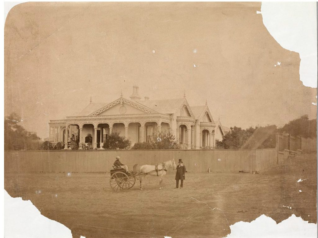 Corio Villa in 1861 – the house was ordered as a flat-pack from a foundry in 1851.