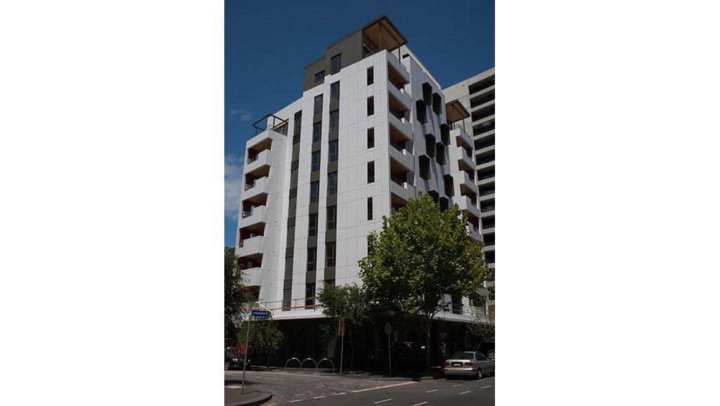 Forte apartment building in Melbourne's Docklands.