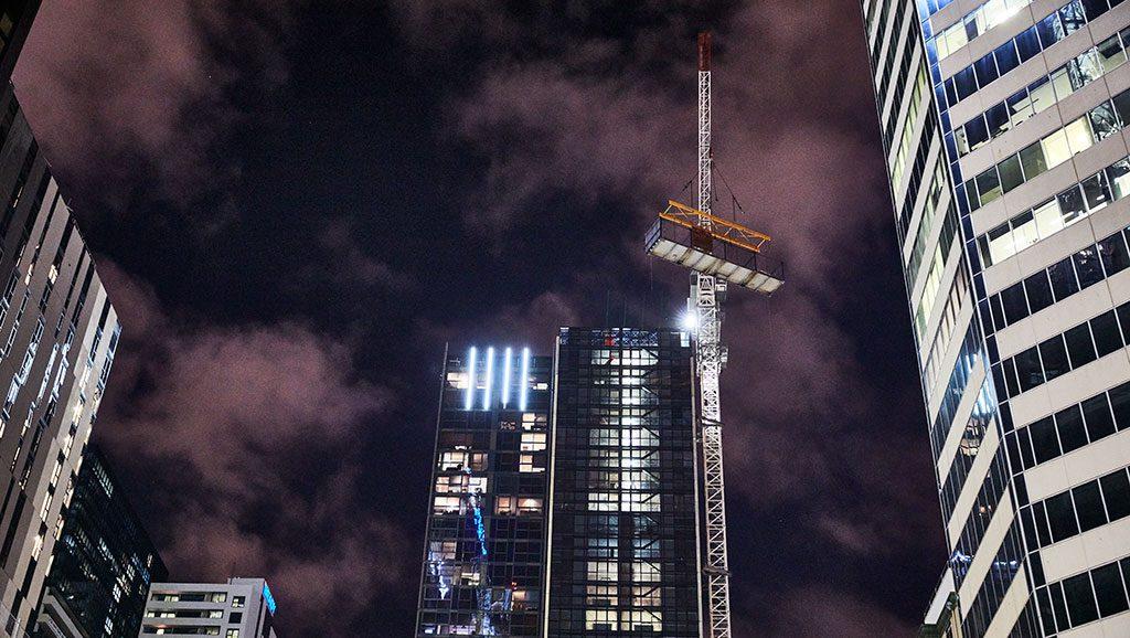 Australia's tallest prefab building - La Trobe Tower, Melbourne.