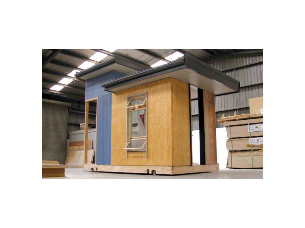 Example of a building fabricated in a factory environment (image supplied by Habitech).