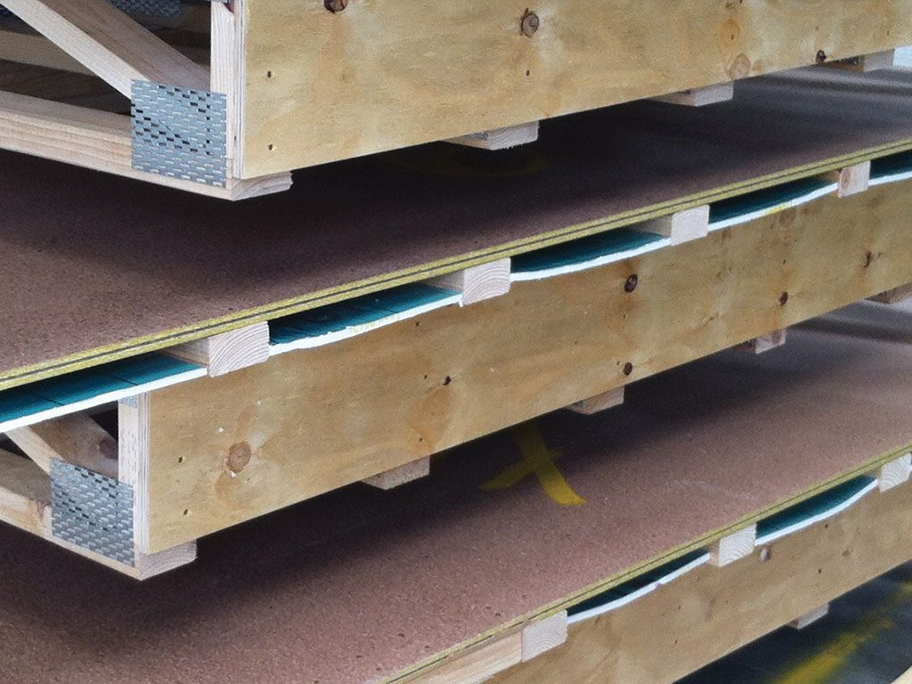 Floors - Insulated floor cassette without finishes.