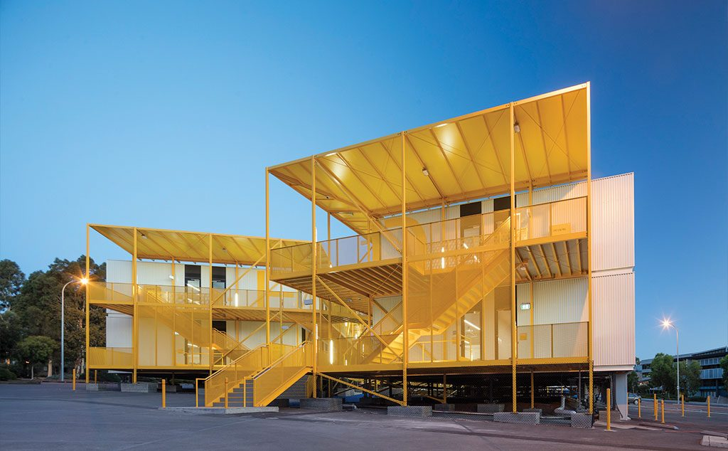 Monash College Learning Village, Melbourne. Designed by Jackson Clements Burrows Architects built by Modscape.