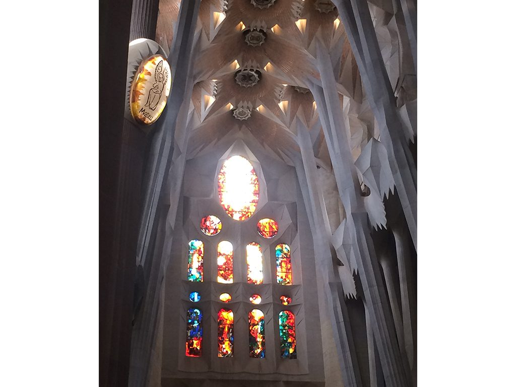 A feast of intense ornamentation: La Sagrada Familia in Barcelona, Spain.