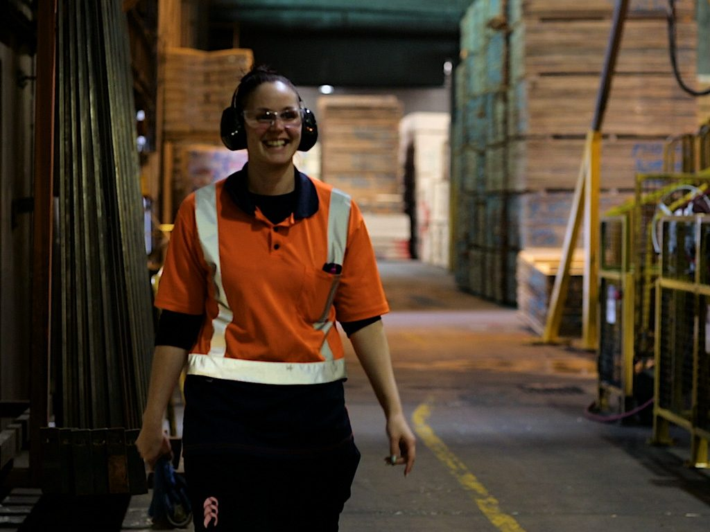 Spreading the word: the Logs4jobs video, which focuses on women in key areas of design and construction, continues to be distributed.