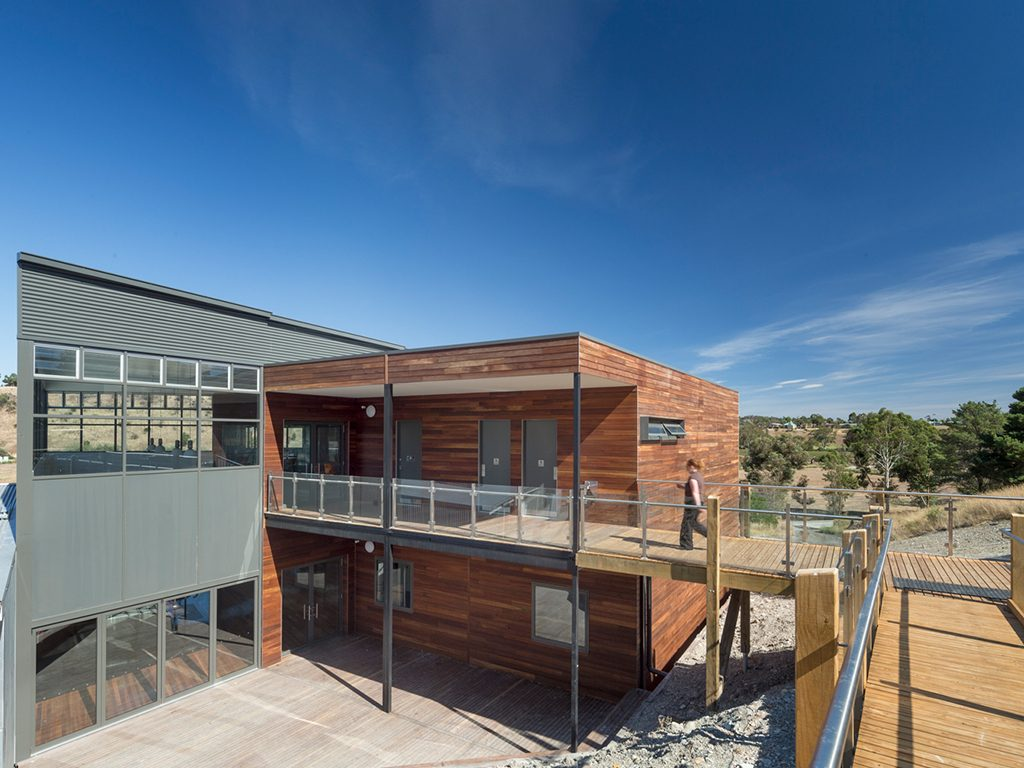 Warm and inviting timber: Prebuilt Commercial worked with architects McIldowie Partners on a Year 9 campus for Salesian College.