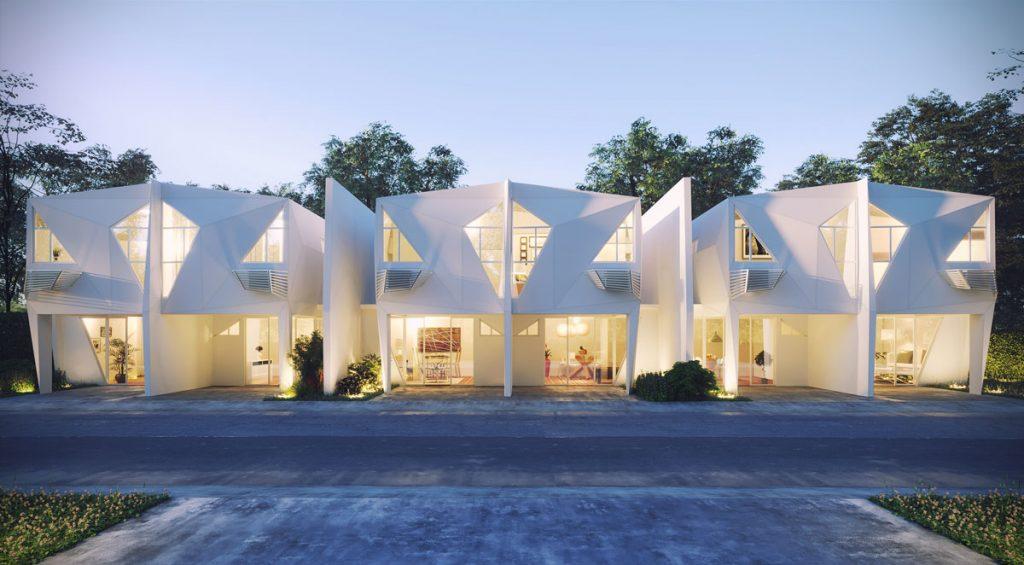 Polygonal Successions or 'rowhouses' by Eduardo Calma.