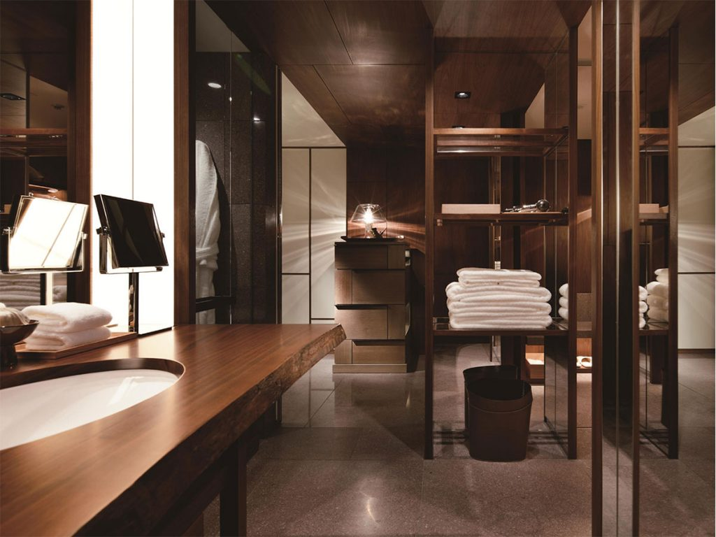 High precision bathrooms: PUDA modules in situ at the Andaz Tokyo luxury hotel.
