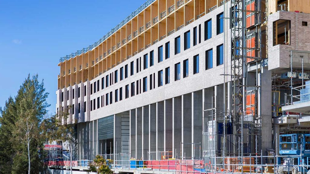 Quick installation: CSR Inclose allows around 200 square metres of facade to be completed in one day.