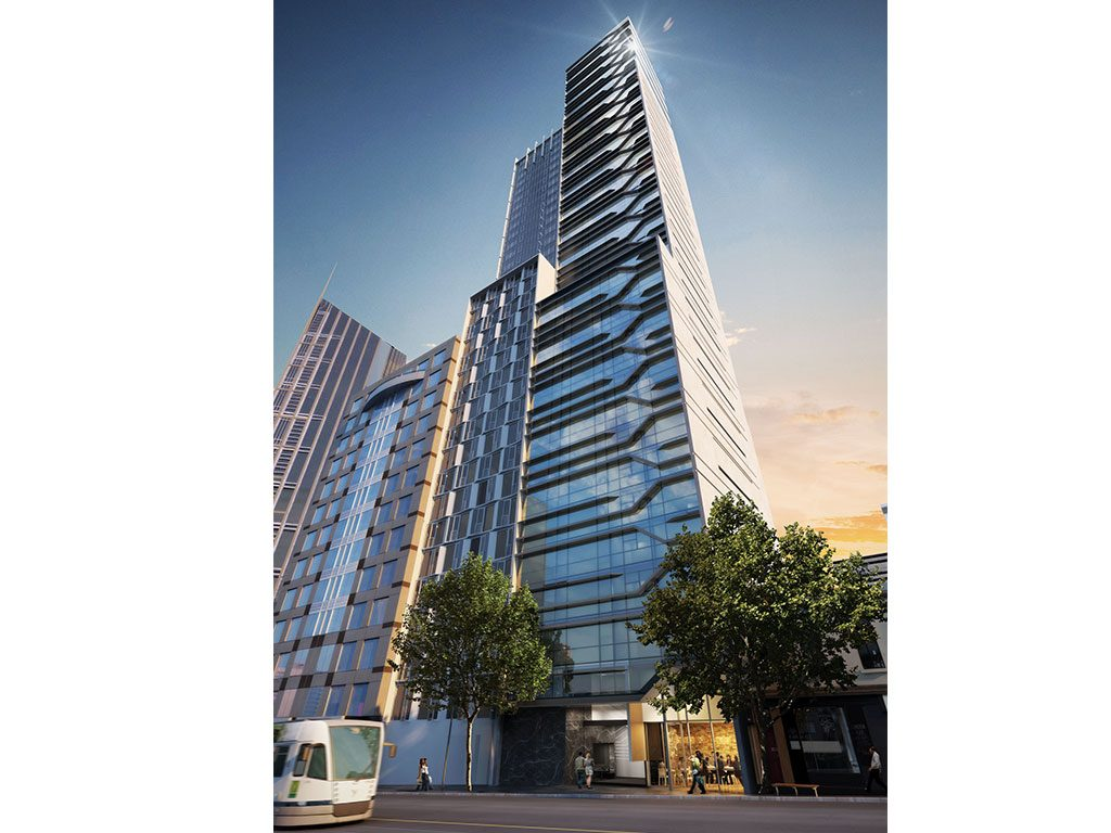 The La Trobe Street tower, the tallest prefab student accommodation in Australia, demonstrates HBS' efficiencies.