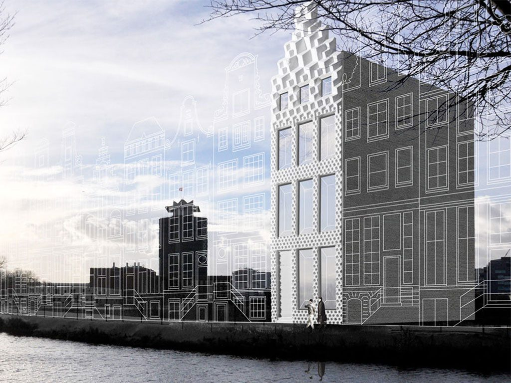Concept for 3D print Canal House, Amsterdam.