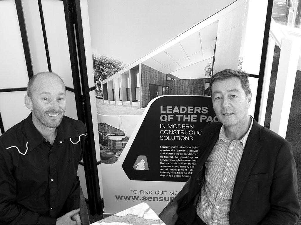 L-R: David Saunders, founder - S2 Design; John Baxter, Project Manager - Sensum