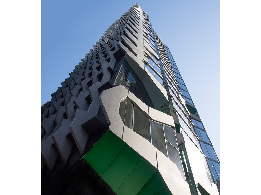 Total precast was specified for 41X, the Australian Institute of Architect's national office in Melbourne. Precast manufactured by Euro Precast.