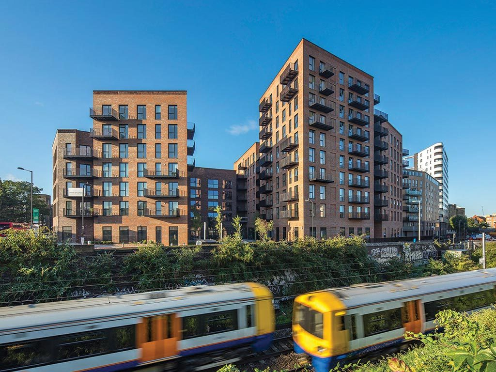 WTA project Dalston Works is the world's largest CLT building, and a demonstration of timber construction in high-density urban housing. The ten-storey, 121-unit development is made entirely from CLT, including external, party and core walls, floors and stairs.