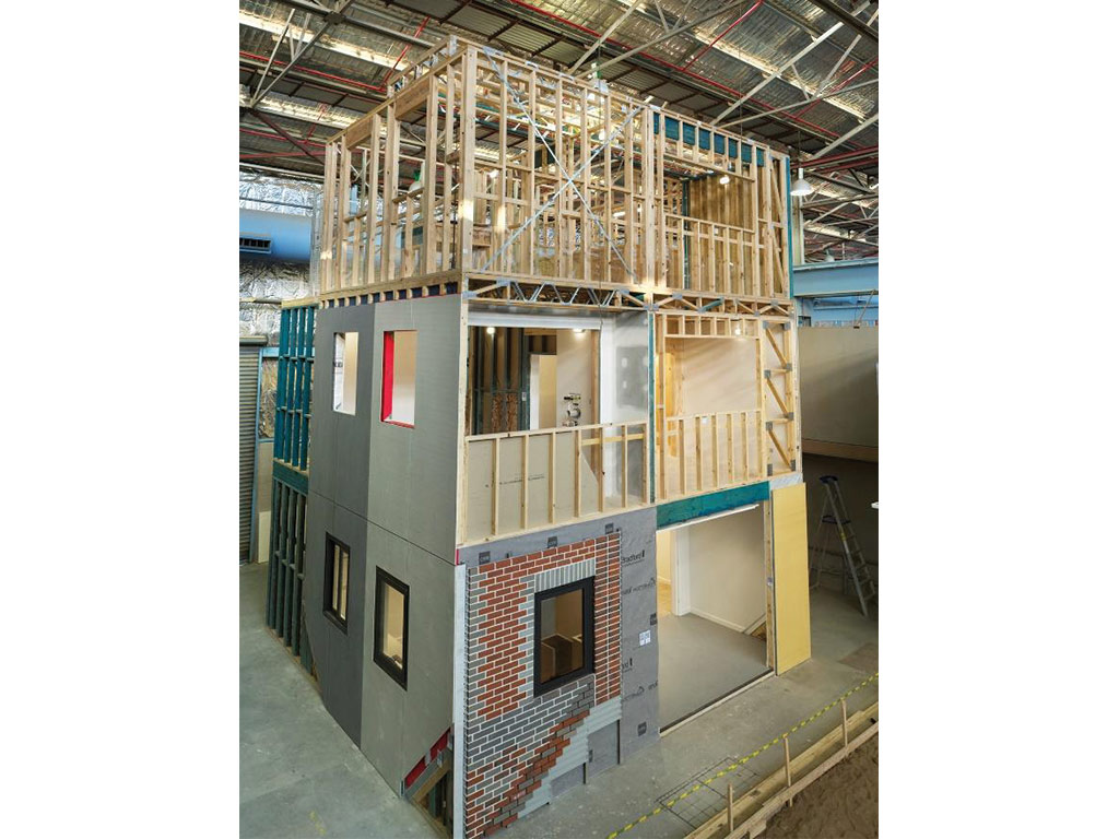 The WoodSolutions full scale, Mid-rise Demonstration at Holmesglen Institute, Melbourne. The structure is available for guided tours by appointment.