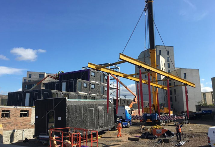 modular building installation