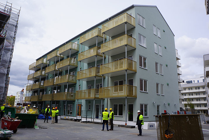 prefabricated panel mid-rise development