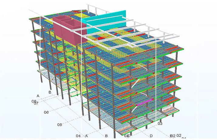 prefabrication PT blink technology tekla model