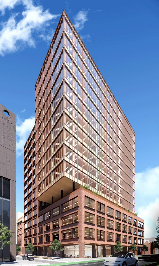 Hines prefabricated timber tower Melbourne