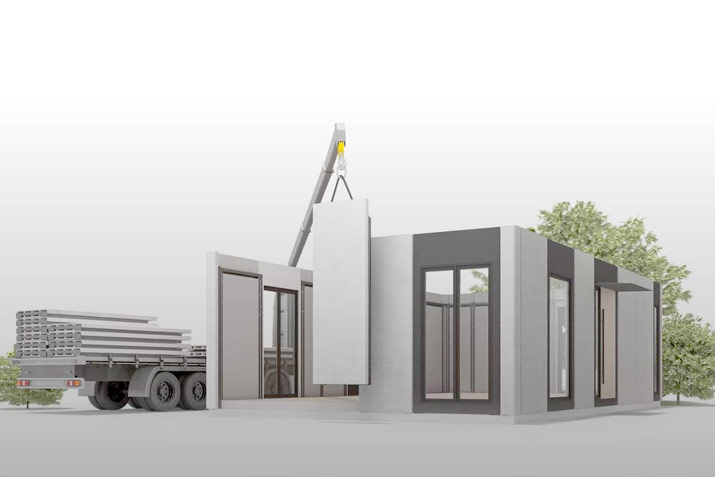 3D printed modular houses