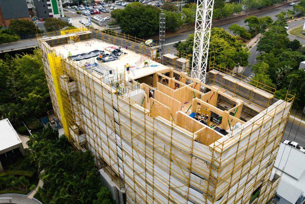 Xlams CLT used in Monterey building site