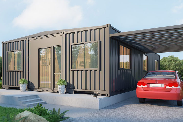 SG blocks shipping container prefabrication
