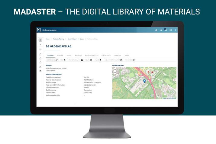 Madaster database computer image