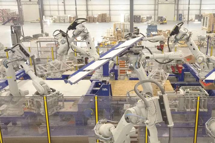 ABB prefabrication construction industry robots
