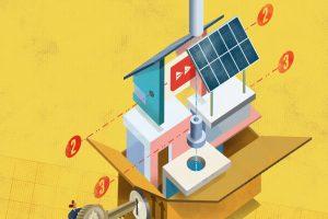 illustration for developers saving money by using modular construction